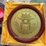 đĩa đồng khuê văn các khắc ăn mòn 18cm 23cm