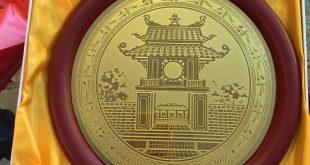 đĩa đồng khuê văn các khắc ăn mòn