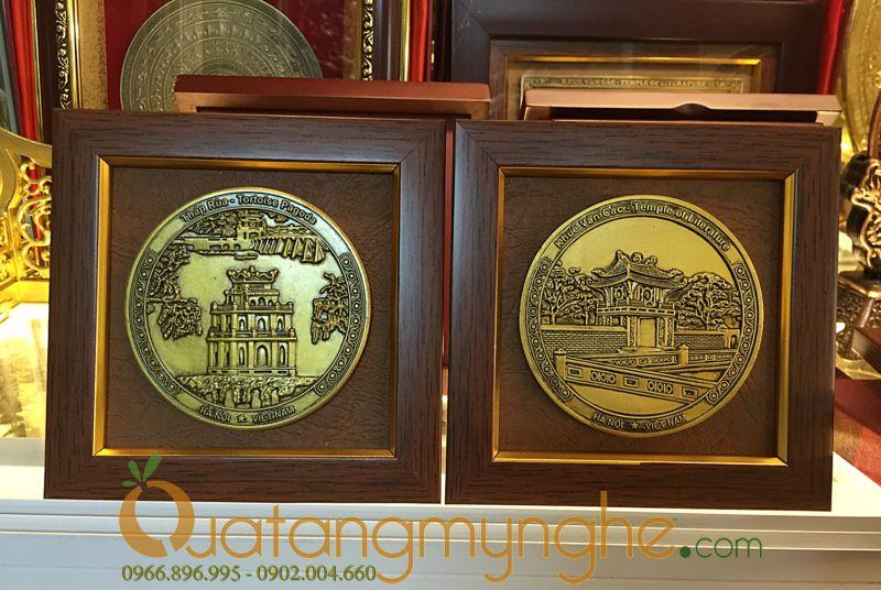 tranh quà tặng để bàn cảnh văn hóa Hà Nội Việt Nam tháp rùa