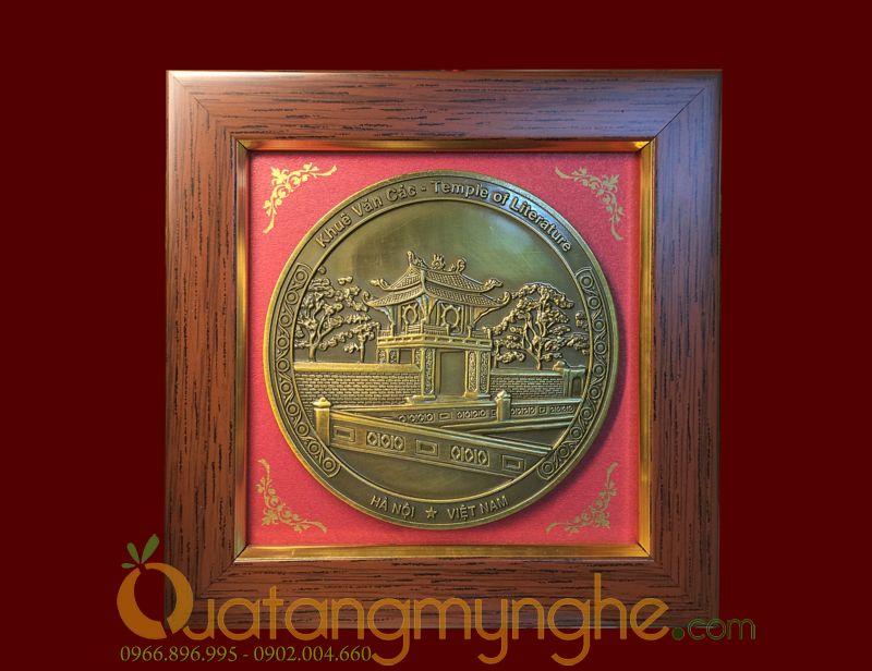tranh quà tặng để bàn cảnh văn hóa Hà Nội Việt Nam khuê văn các