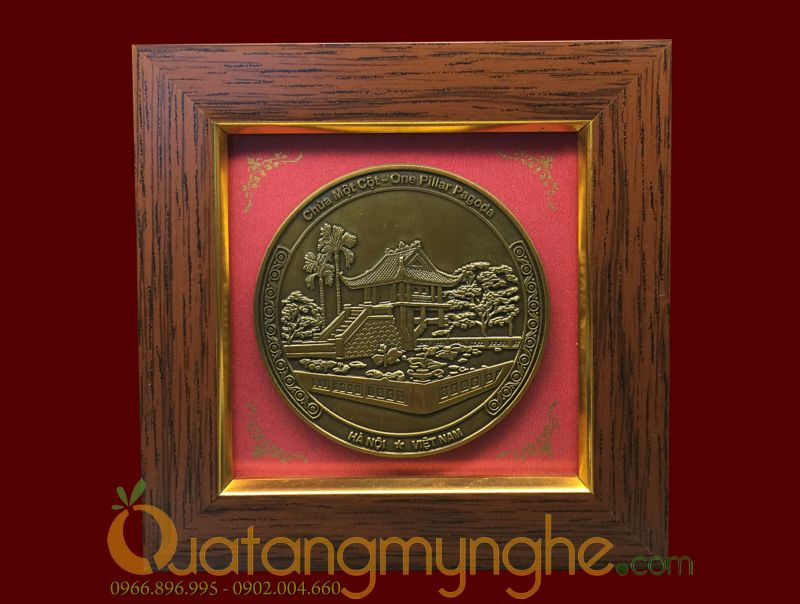 tranh quà tặng để bàn cảnh văn hóa Hà Nội Việt Nam chùa 1 cột