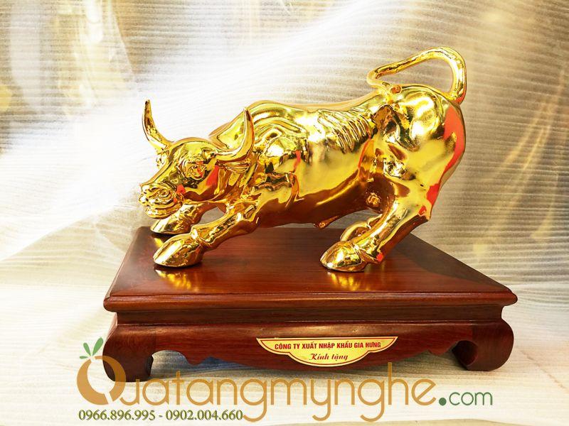 Qua tặng lưu niệm - Trâu vàng phong thủy 4