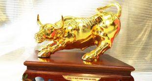 Quà tặng lưu niệm - Trâu vàng phong thủy