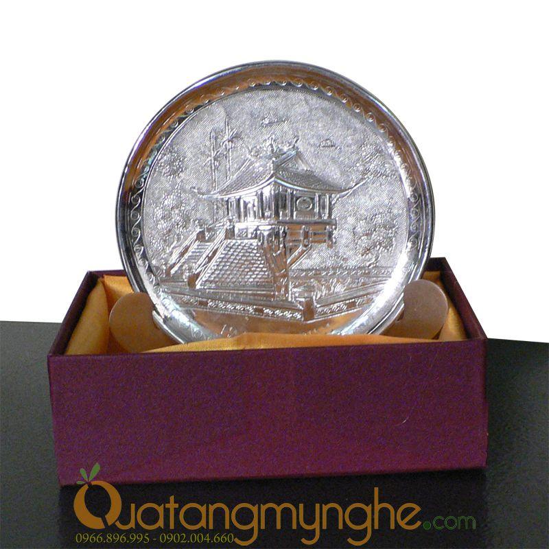 Quà lưu niệm: Đĩa tranh đồng mạ vàng – bạc cao cấp0