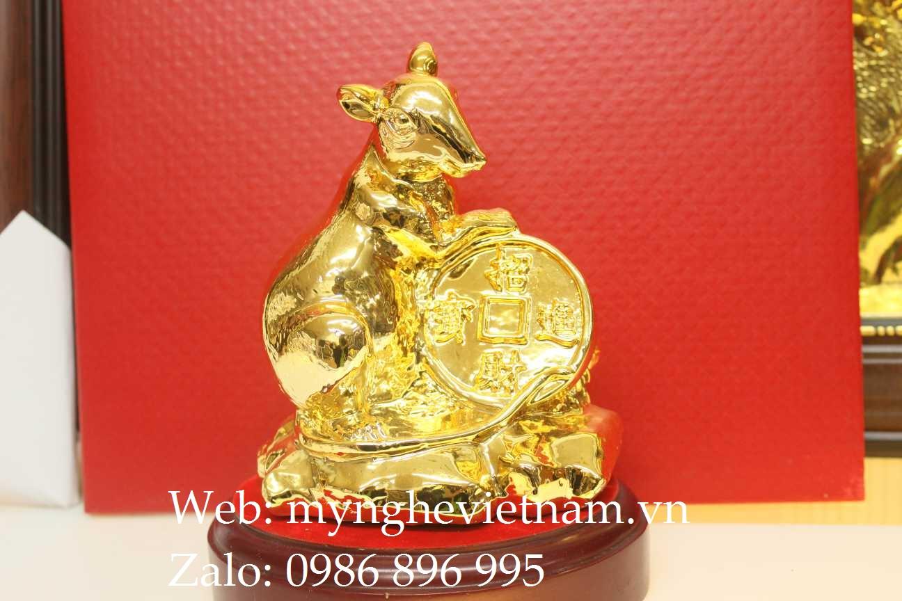 Chuột ôm đồng vàng mạ vàng cao cấp0